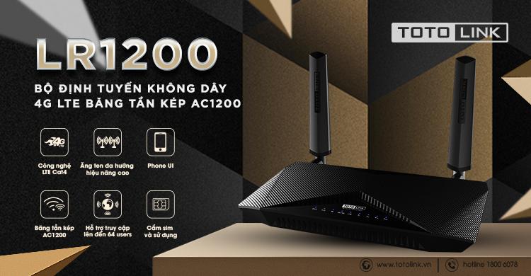 LR1200 - Bộ định tuyến không dây 4G LTE băng tần kép AC1200 ...